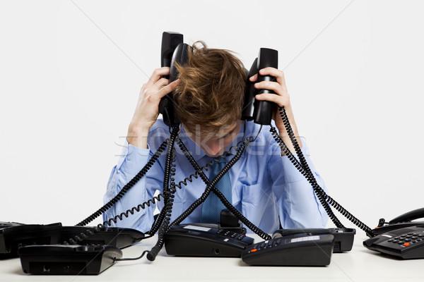Answering calls Stock photo © iko