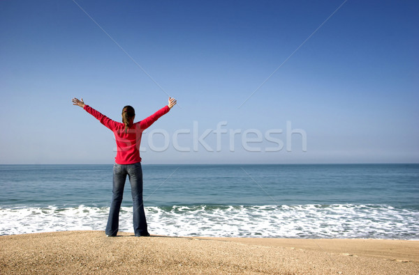 Young woman in the beach Stock photo © iko