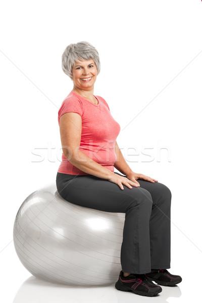 Fiitness old woman  Stock photo © iko