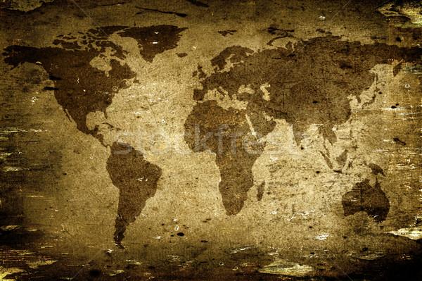 старые бумаги Мир карта карта Сток-фото © iko