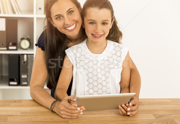 Mother and daughter at home Stock photo © iko