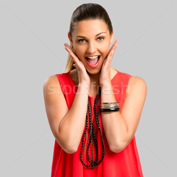Happy woman Stock photo © iko