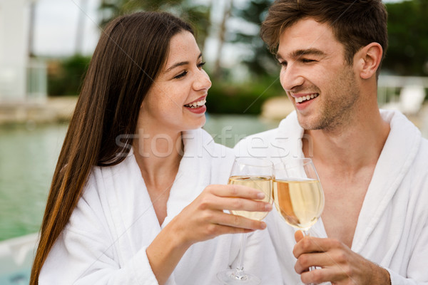 Verkostung Wein Luxus Hotel Glas Stock foto © iko