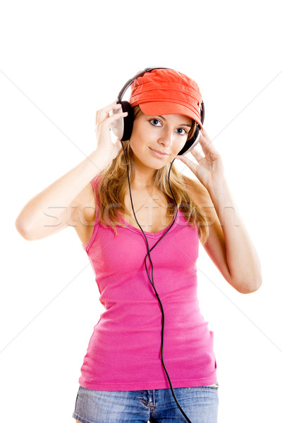 Young woman listen music Stock photo © iko