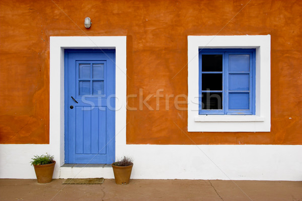 Blue window and door Stock photo © iko