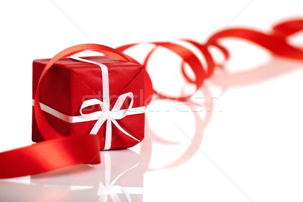 Noël cadeau rouge isolé blanche Photo stock © iko