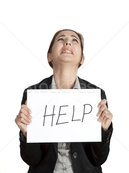 Help me please! Stock photo © iko
