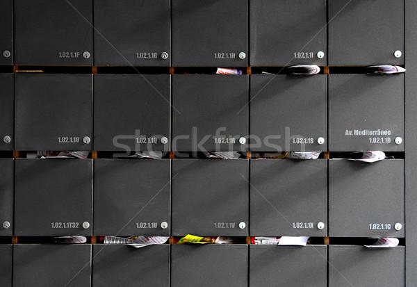 Foto huis stad home deur achtergrond Stockfoto © iko