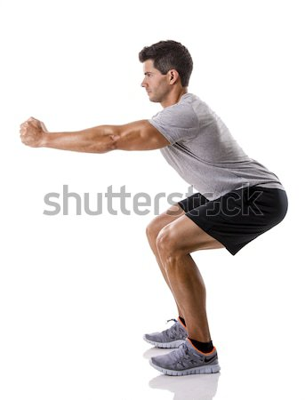 Man doing exercises Stock photo © iko