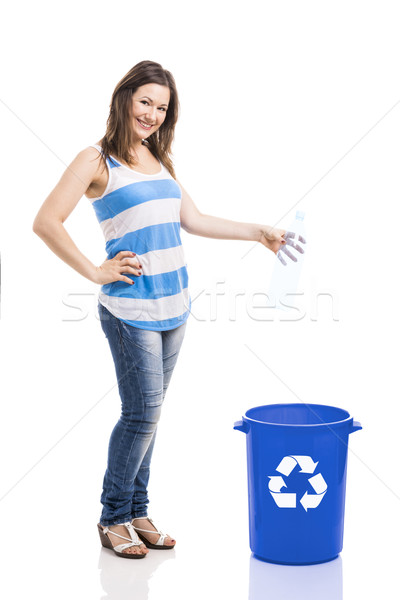 Beautiful young recycling Stock photo © iko