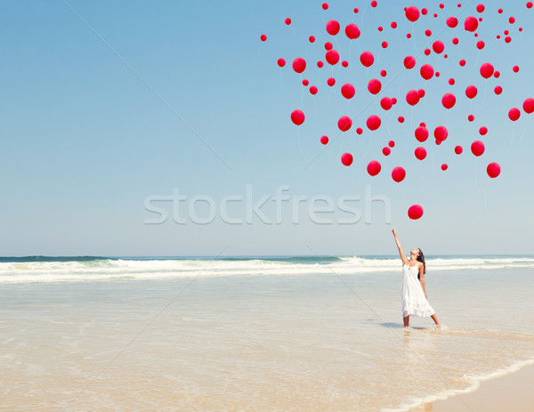 Dropping ballons in the sky Stock photo © iko