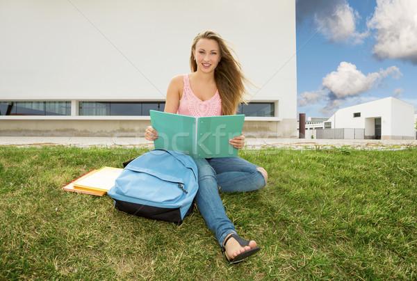Beautiful teenager student Stock photo © iko