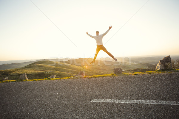 Man jumping Stock photo © iko