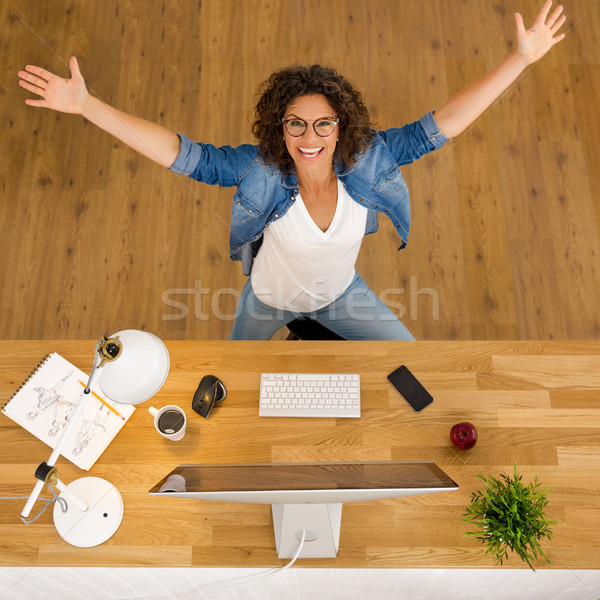 Happy Businesswoman Stock photo © iko