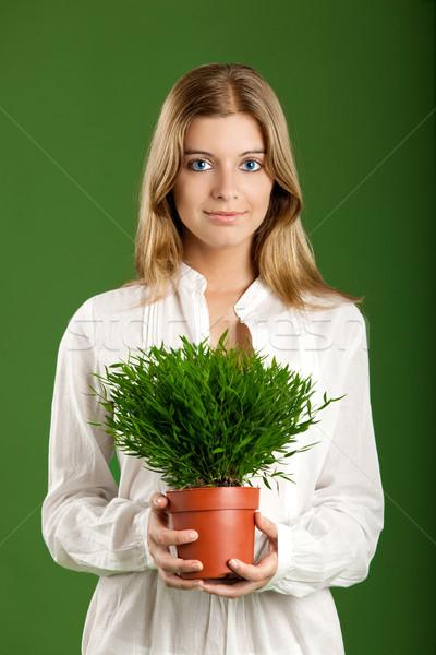 Ecologic woman Stock photo © iko