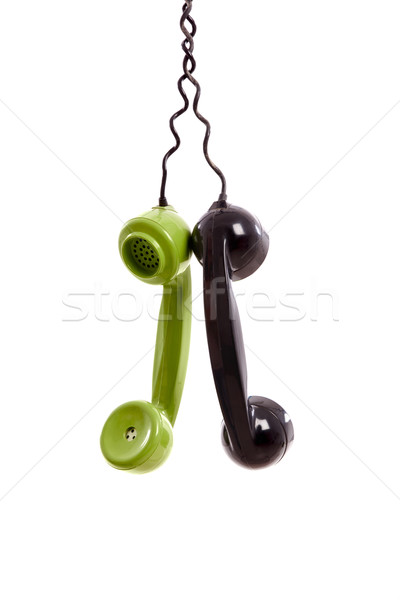 Vintage phones headsets Stock photo © iko