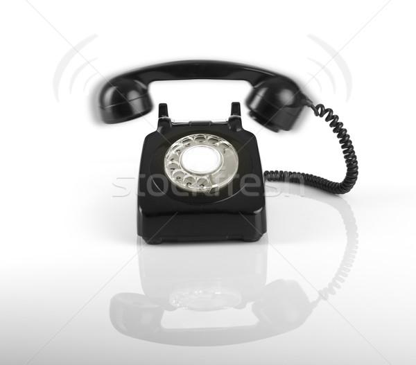 Ktoś telefonu moda tle kontakt Język Zdjęcia stock © iko