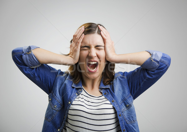 Stressed woman Stock photo © iko