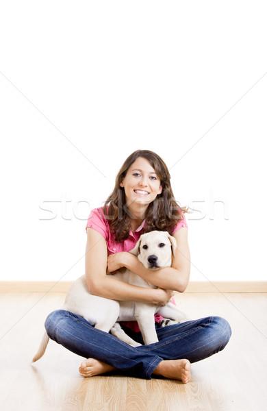 Menina melhor amigo mulher jovem belo bonitinho Foto stock © iko