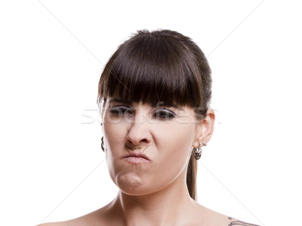 şüpheli portre kadın öfkeli kız Stok fotoğraf © iko