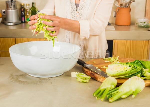 Káposzta savanyú káposzta megőrzött zöldségek fanyar egészség Stock fotó © iko