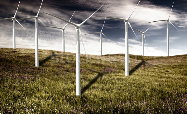 Wind turbines Stock photo © iko
