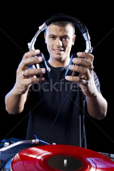 DJ playing music Stock photo © iko