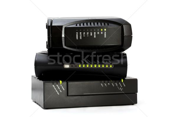Cavo modem internet voce uno Foto d'archivio © iko