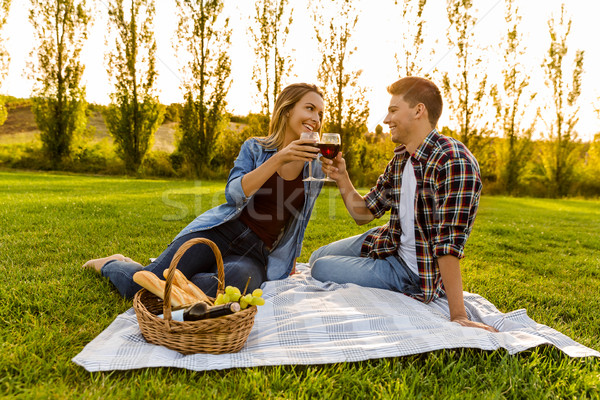 Enjoying the day with a  picnic Stock photo © iko