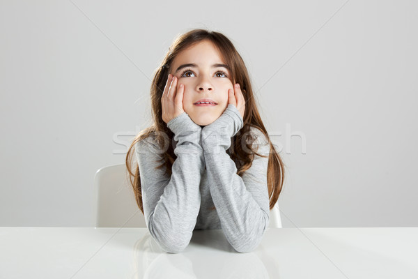 Little girl in a desk Stock photo © iko