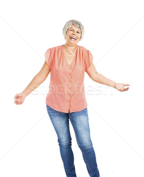 happy old woman Stock photo © iko