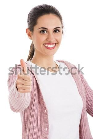 Happy latin woman  Stock photo © iko