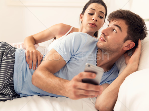 How texting can ruin a relationship Stock photo © iko