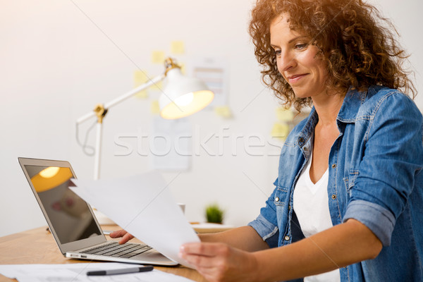 Woman working at the office Stock photo © iko