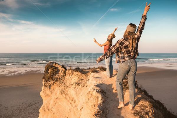 We love the beach Stock photo © iko