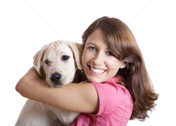 Nina mejor amigo hermosa cute Foto stock © iko