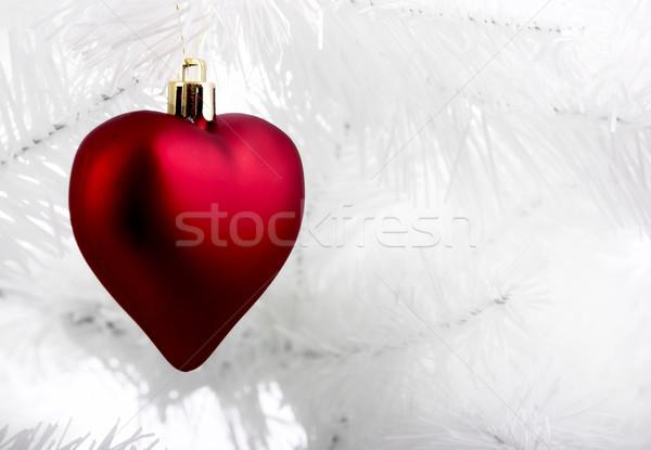 Zdjęcia stock: Christmas · ozdoby · wiszący · biały · drzewo · rodziny