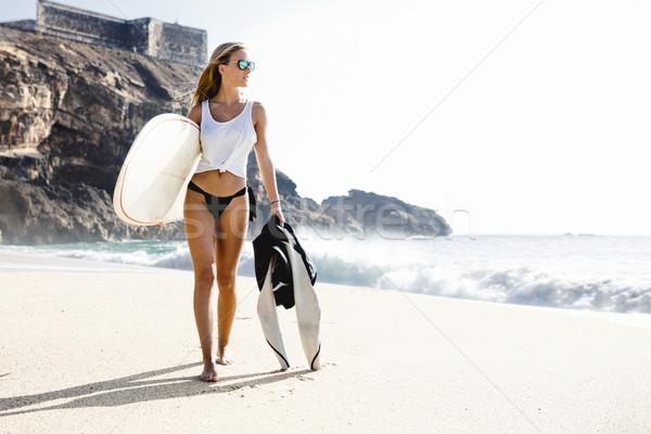 Stok fotoğraf: Sörf · benim · tutku · güzel · genç · sörfçü