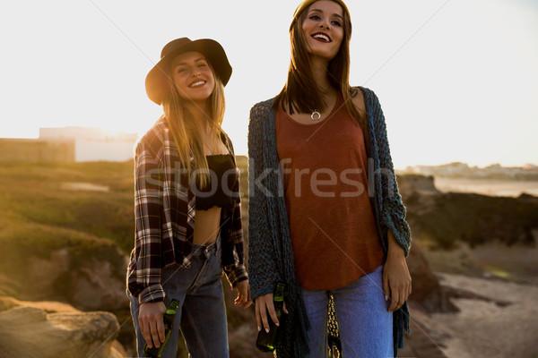 Girls having fun Stock photo © iko