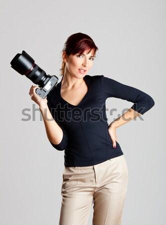 女性 カメラマン 肖像 美しい 魅力的な 若い女性 ストックフォト © iko