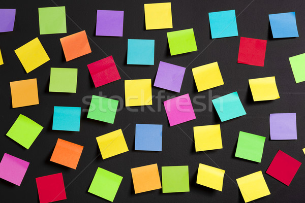 Colored paper notes Stock photo © iko