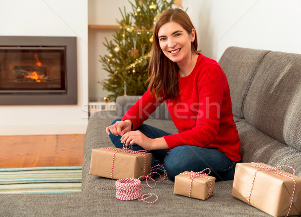 Wrapping presents Stock photo © iko
