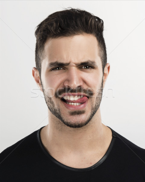 Stock photo: Mad man