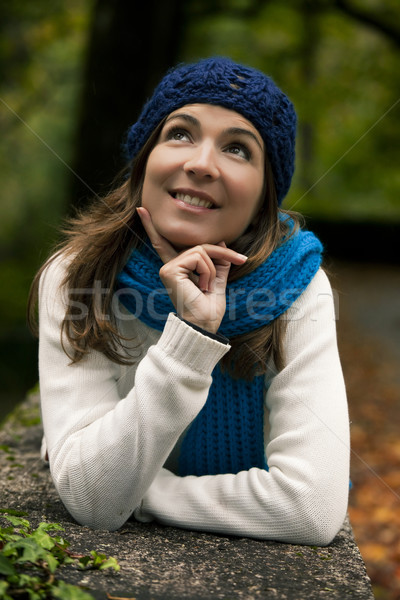 Beautiful young woman in nature Stock photo © iko