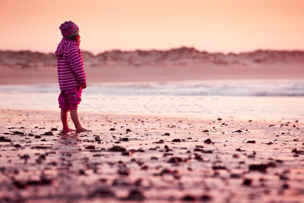 Stock photo: Little girl in the beach