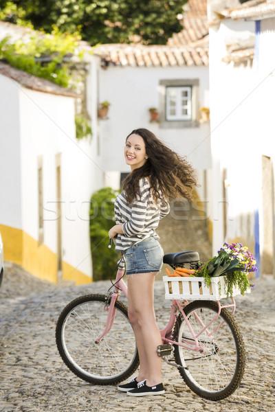 Wonen zoals lokaal mooie vrouwelijke toeristische Stockfoto © iko