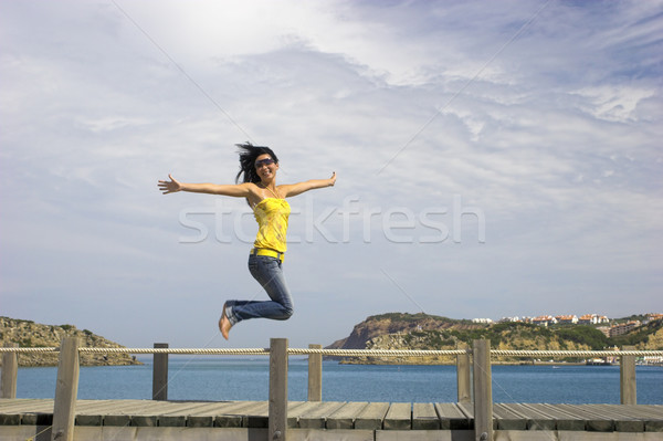 Stock photo: Big jump