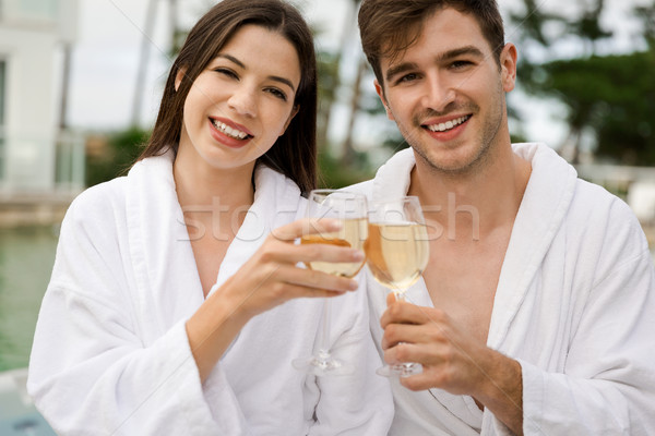 Degustação vinho luxo hotel vidro Foto stock © iko