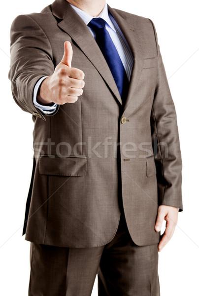успешный деловой человек стороны работу тело Сток-фото © iko