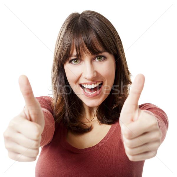 楽観的 女性 美人 孤立した ストックフォト © iko